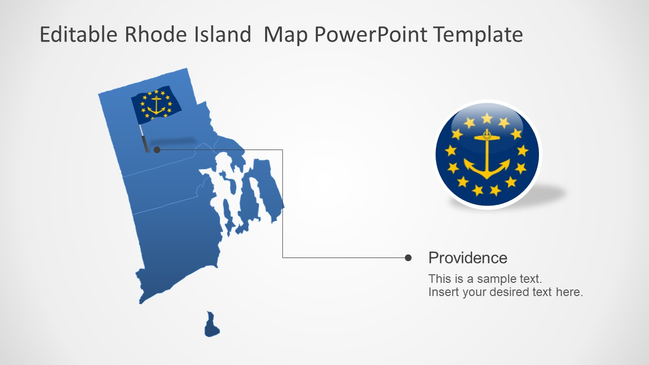 Outline Map Silhouette PowerPoint