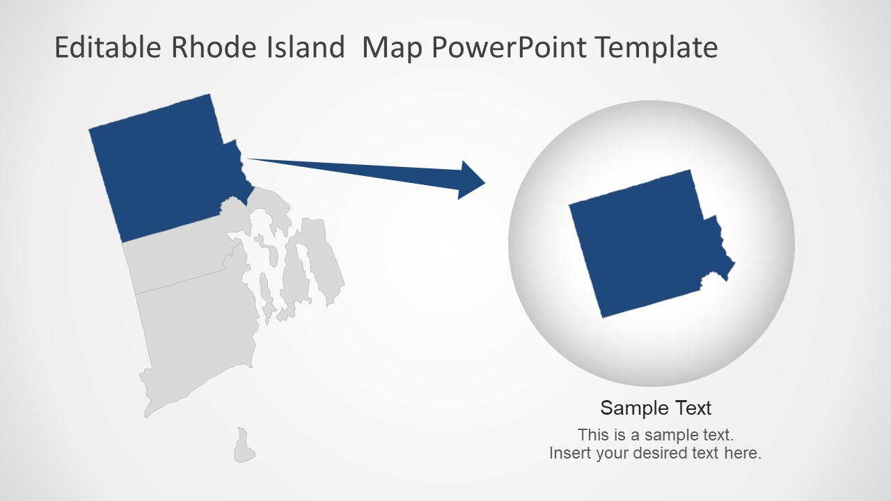 Presentation of Rhode Island Editable Map