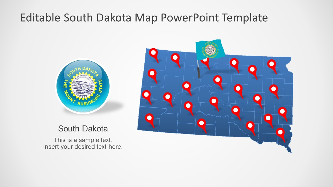 Map Template of South Dakota State