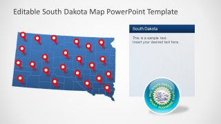 South Dakota Editable US Map
