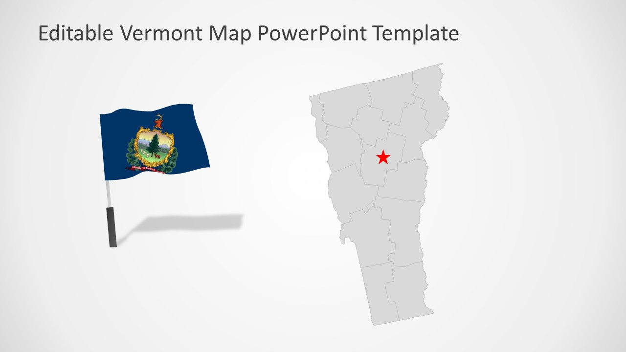 PPT Map Template for Vermont
