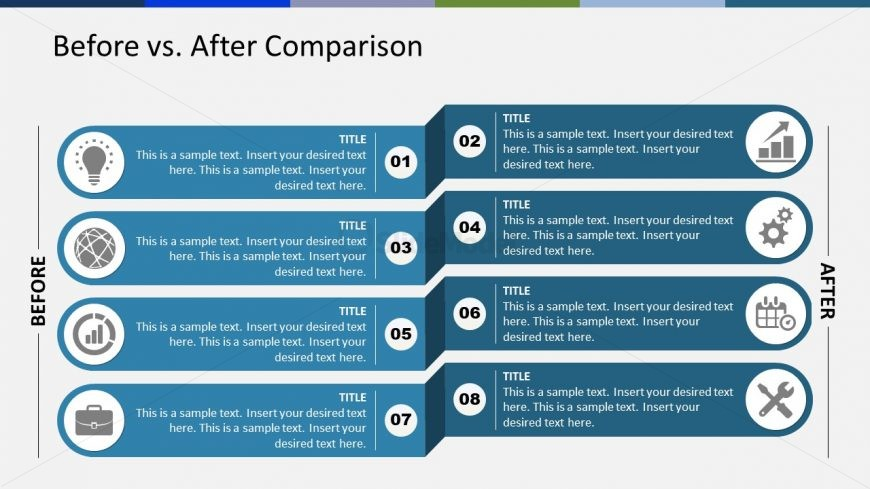 PowerPoint of 4 Steps Comparison Before After