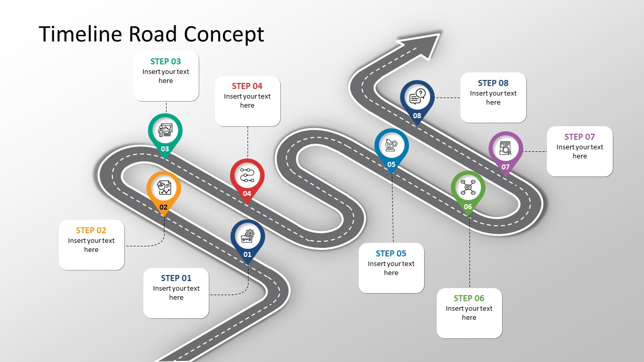 Isometric Infographic Roadmap Timeline for Projects