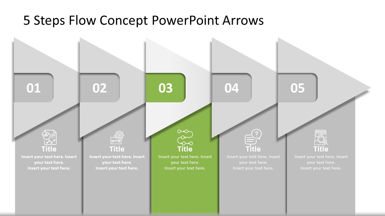 Animated Arrow Concept Diagram Template