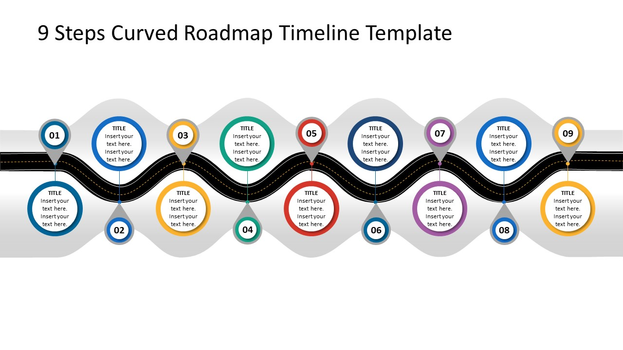 Roadmap Template Horizontal Timeline