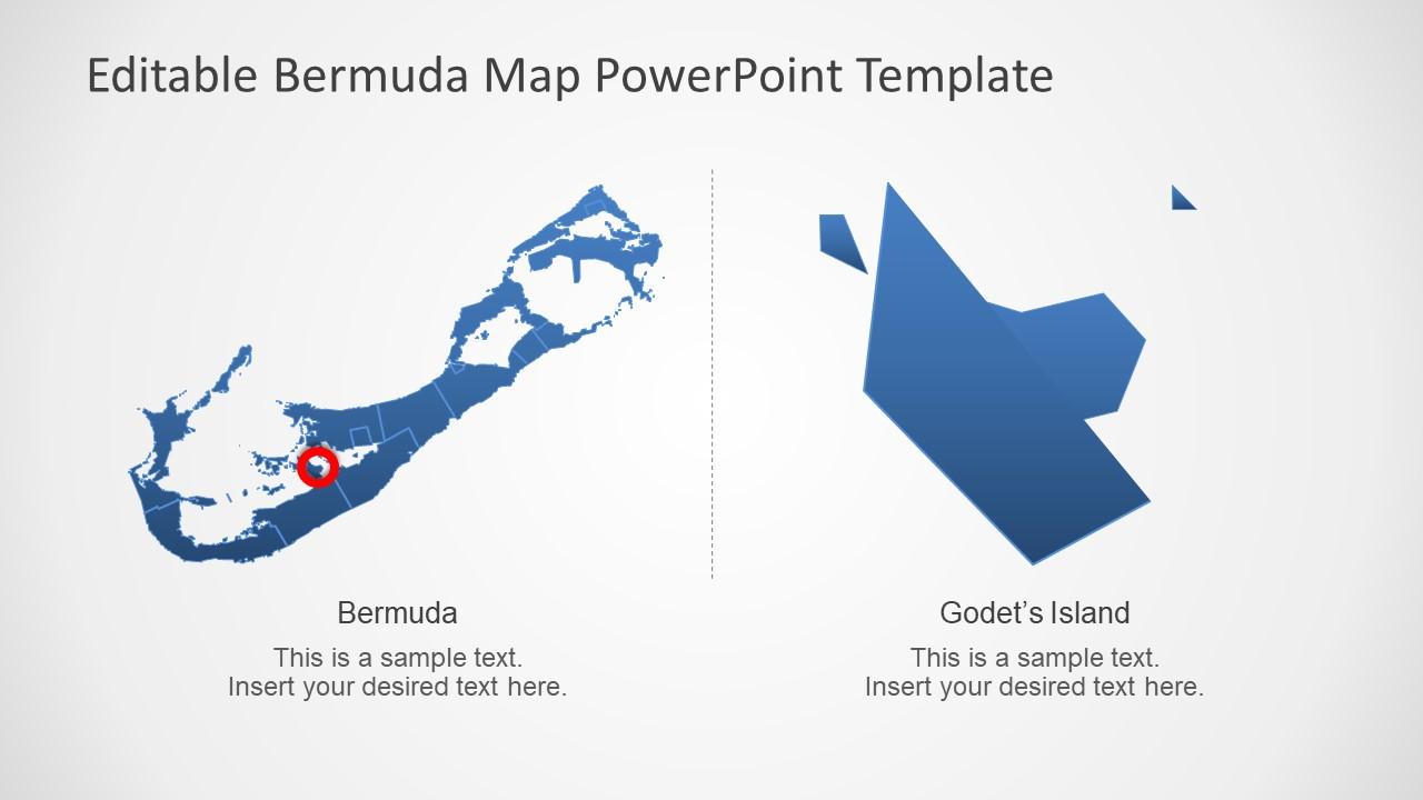 Bermuda Island Template for Editable Maps