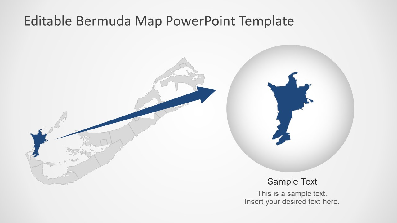 Flat Vector Bermuda Map Presentation