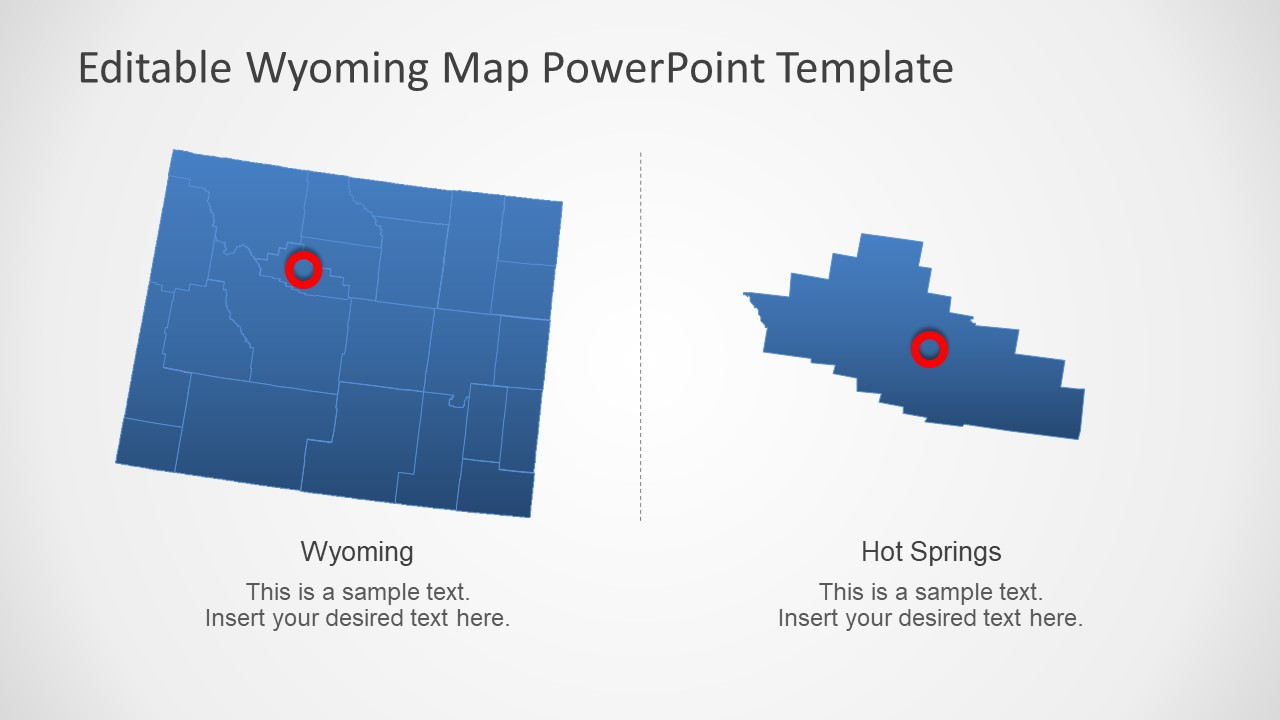 PowerPoint Map of Wyoming with Counties