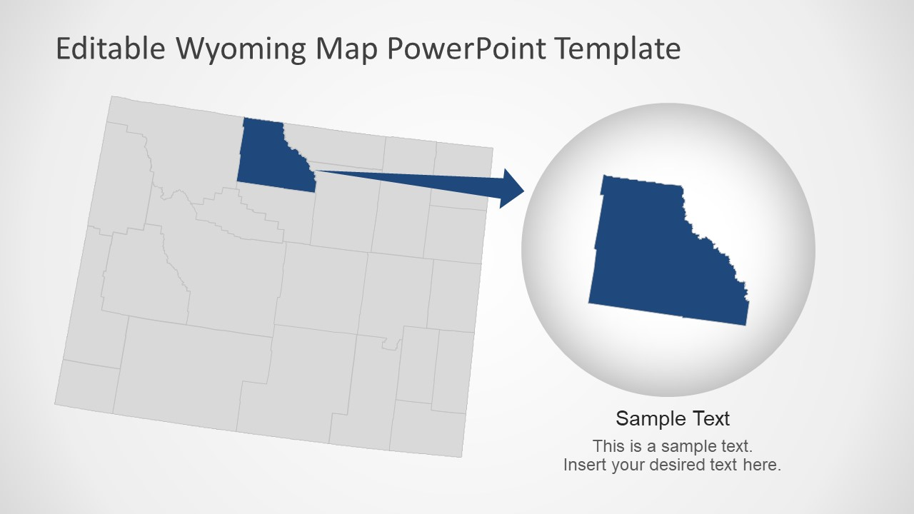 USA State of Wyoming Map