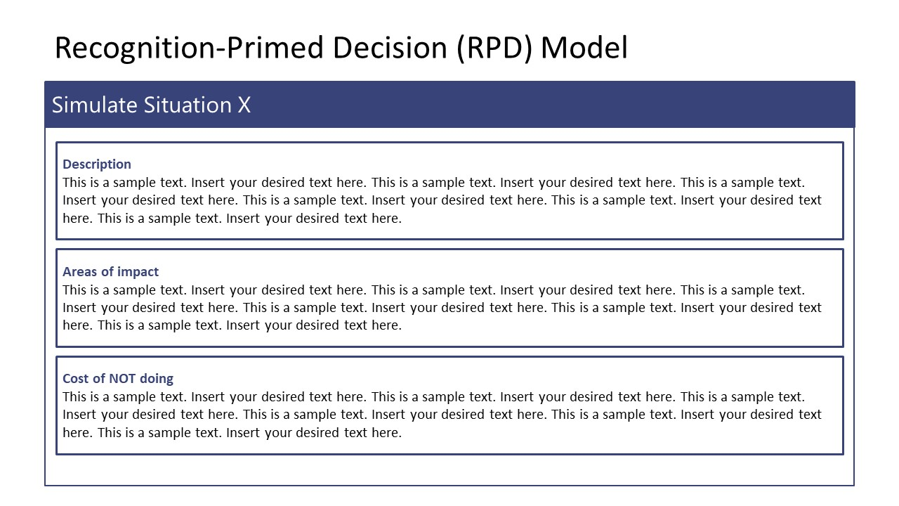 Recognition Primed Decision Variations Simulations Template