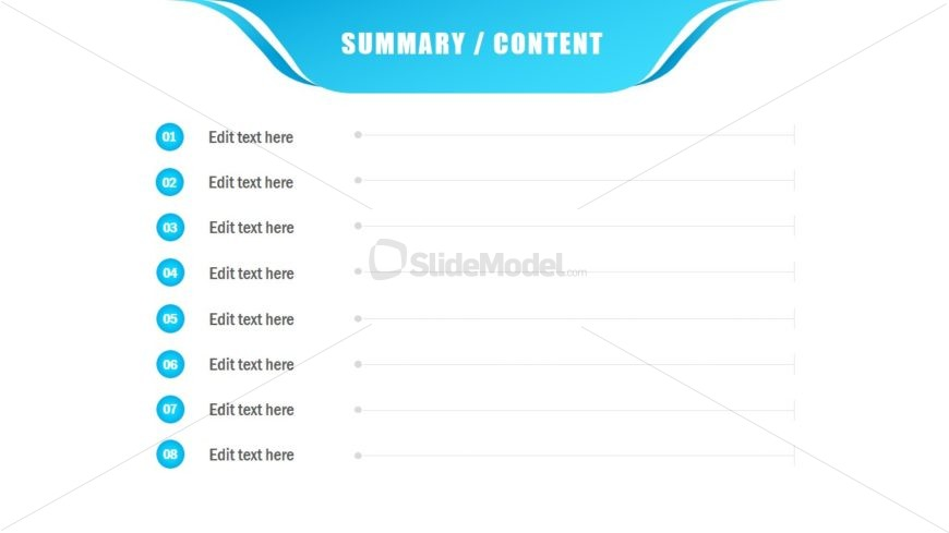 Slide with Simple Table of Content