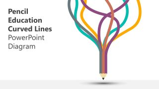 Pencil Education Curved Lines PowerPoint Template