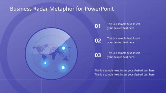 Business Radar Template Map