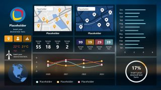 Monitoring PowerPoint Dashboard for Smart City System