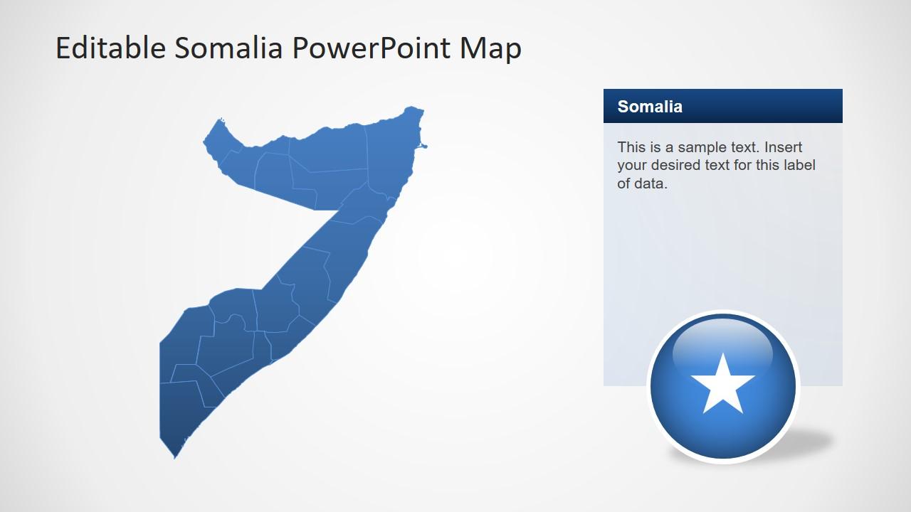 Slide of Somalia Map