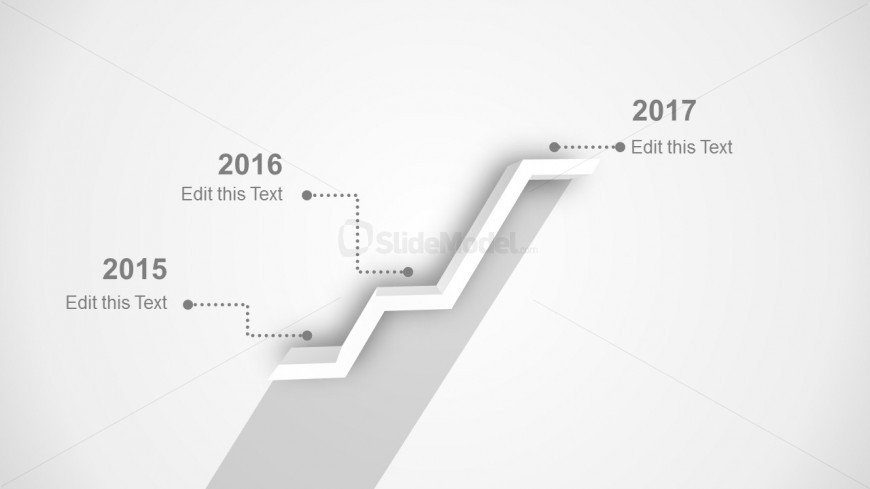 Gray Timeline Template for PowerPoint