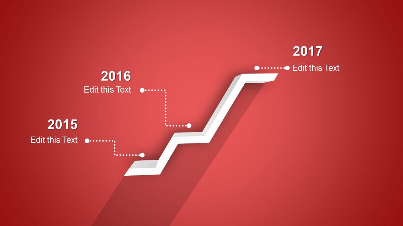 Red Timeline Template for PowerPoint