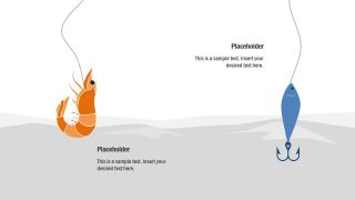 Prawn and Fish Bait PPT Clipart