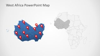 West Africa PowerPoint Map