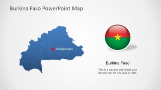 Editable Country Map Burkina Faso