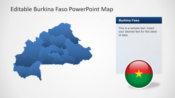 Burkina Faso Editable Map PPT