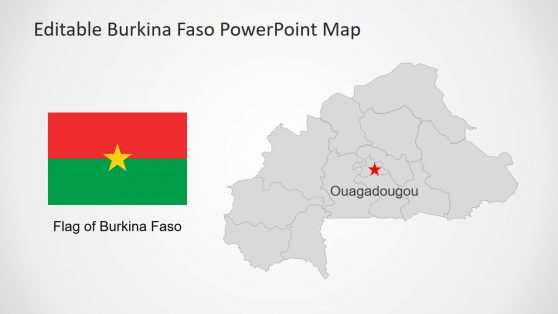 Flag and Map Burkina Map Presentation