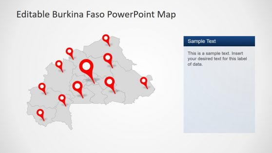 Country Map PowerPoint Burkina Faso
