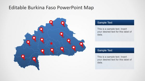 Political Map of Burkina Faso PowerPoint