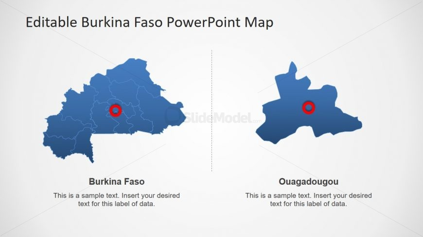 Map of Burkina Faso Silhouette