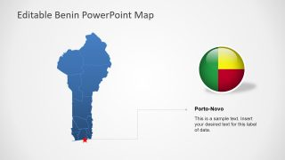Flat Editable Map of Benin