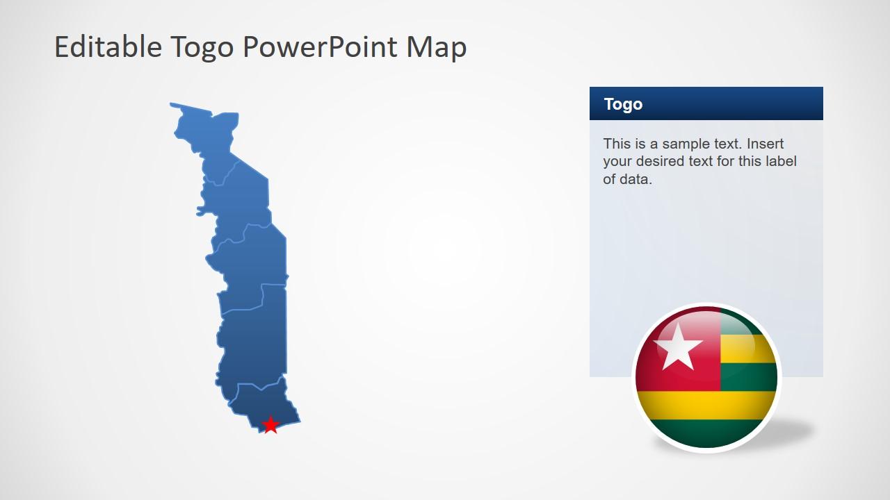 Togo PowerPoint Map on rwanda map, africa map, ghana map, sierra leone map, angola map, malawi map, libya map, switzerland map, benin map, kenya map, sudan map, tunisia map, sweden map, tonga map, uganda map, morocco map, egypt map, zimbabwe map, madagascar map, algeria map, usa map, burkina faso map, chad map, comoros map, mali map, nigeria map, niger map, senegal map, guadeloupe map, congo map, namibia map, mozambique map, bahrain map, ethiopia map,