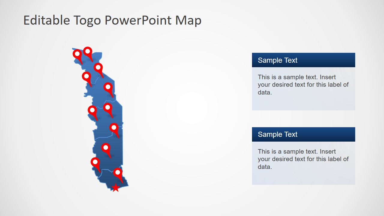 Togo Template Map Design