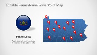 Pennsylvania State PowerPoint Map