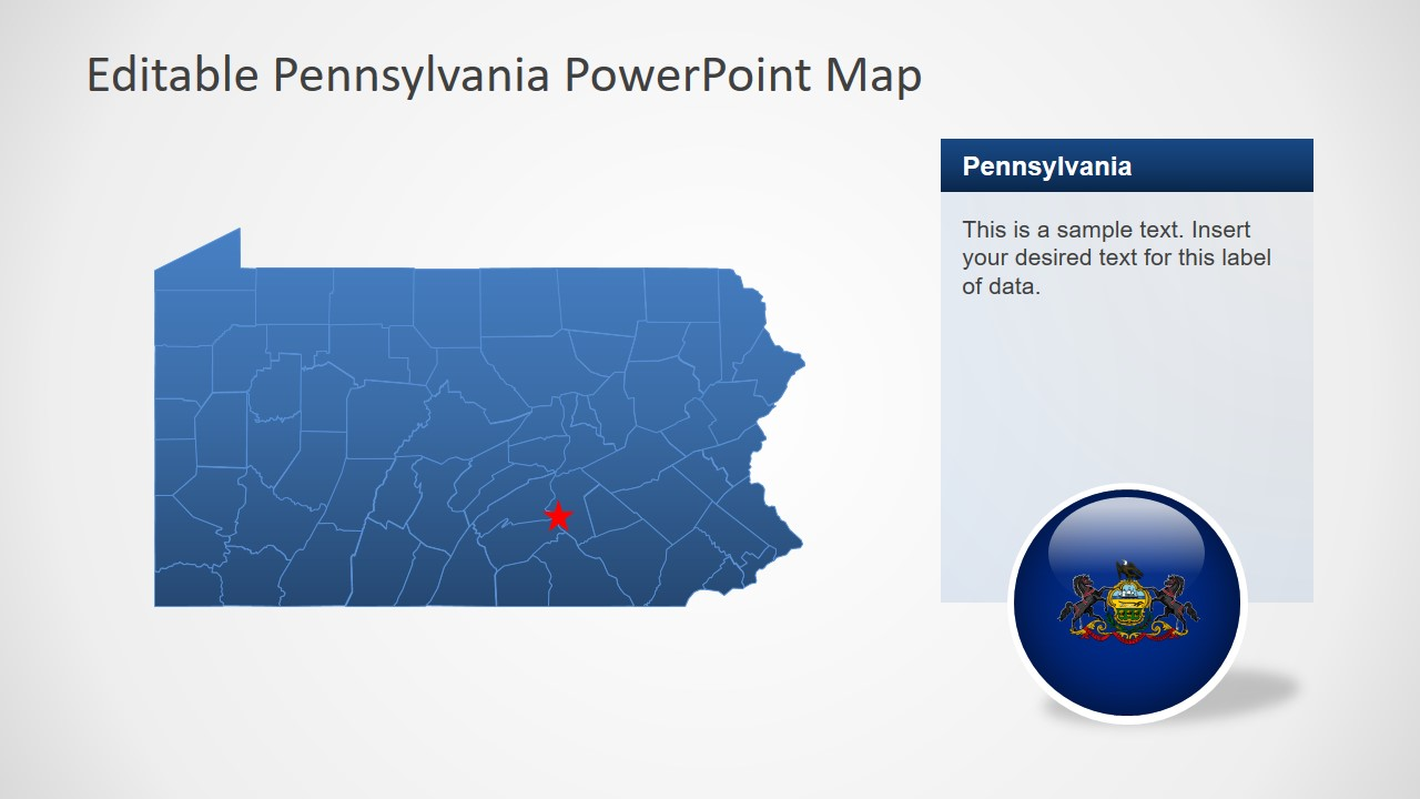 Presentation of 67 Pennsylvania Counties