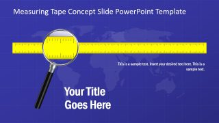 Measuring Tape Concept Slide PowerPoint Template