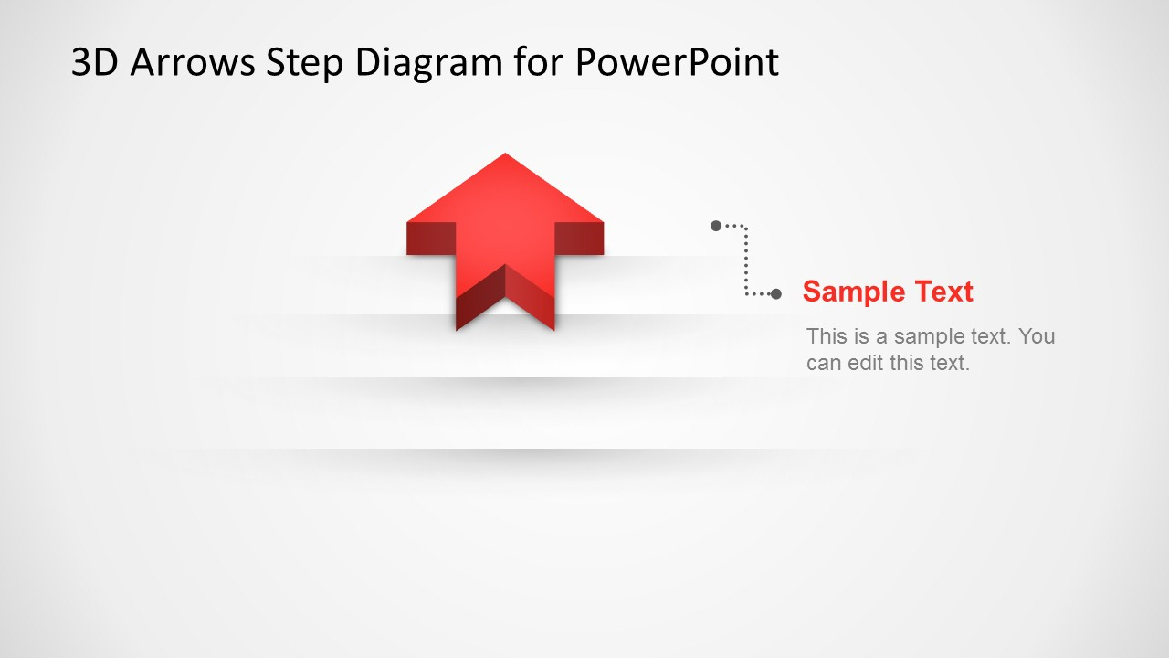 Summary 3d Arrow Progress Diagram Template For Powerpoint Slidemodel Star