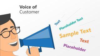 Slide of Loudspeaker for Customer's Voice