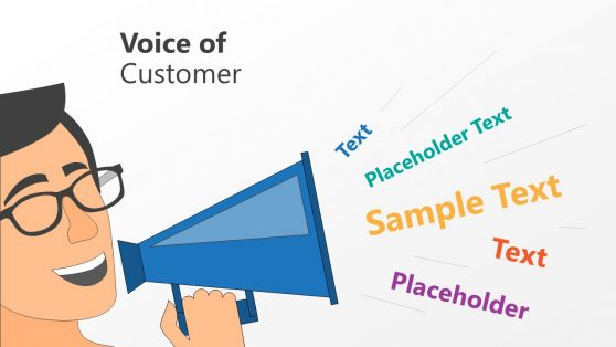 Megaphone PowerPoint for Customer Feedback