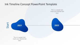 Ink Timeline Concept PowerPoint Template