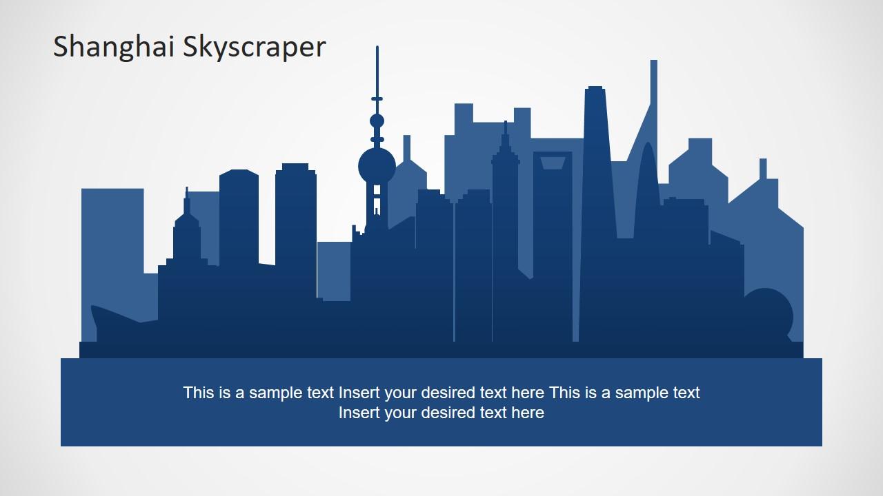 Flat PowerPoint Skyscraper Silhouette