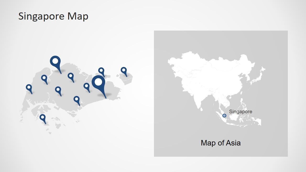 Layout Map Template Singapore