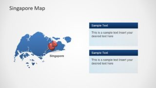 Flat Map Template for Singapore