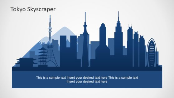 Tokyo Skyline PowerPoint Silhouette