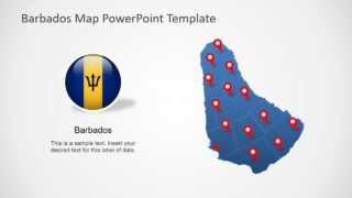 Editable Barbados Map PowerPoint Template