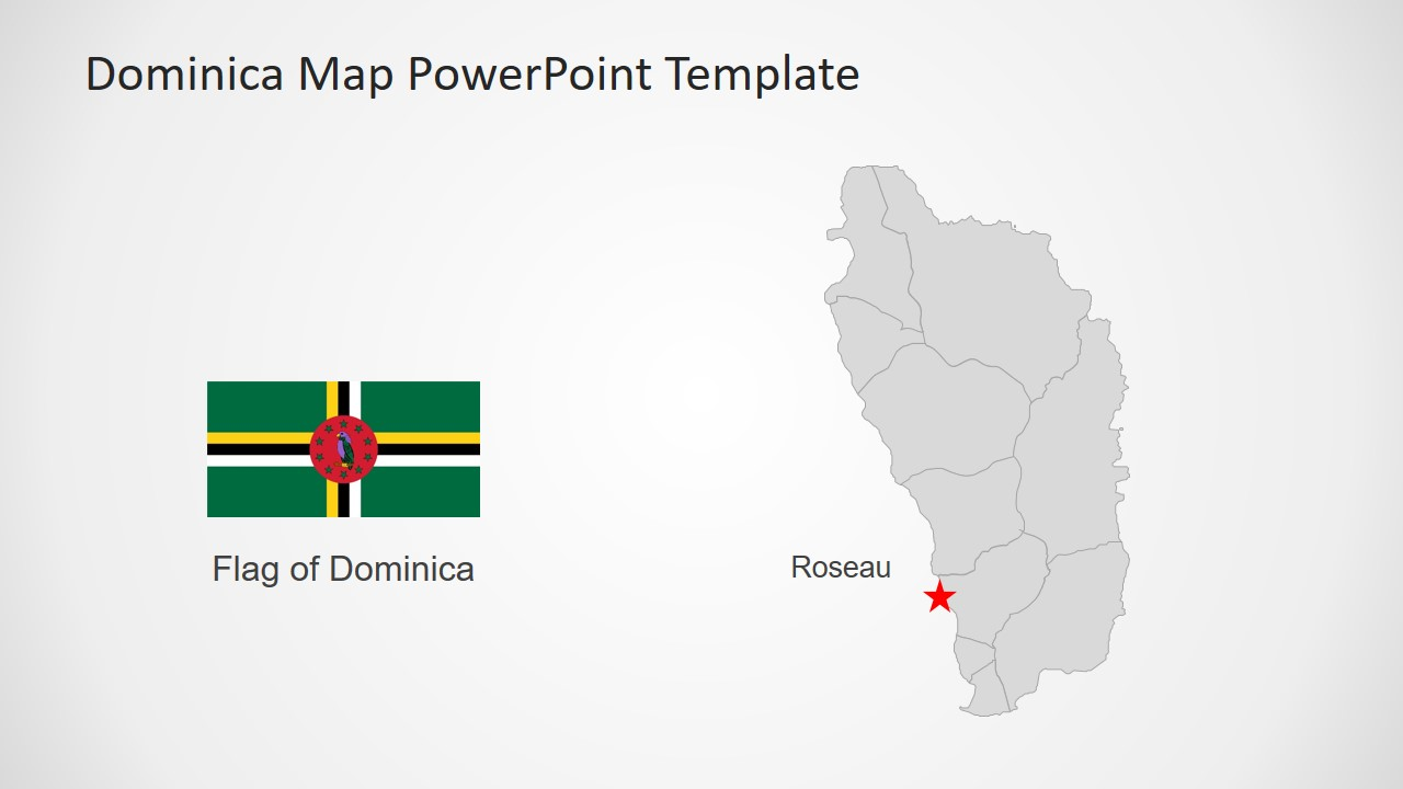 Editable Map for Commonwealth Dominica