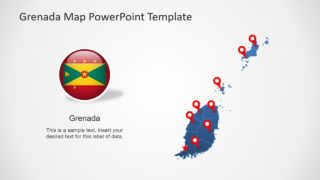 Editable Grenada Map PowerPoint Template
