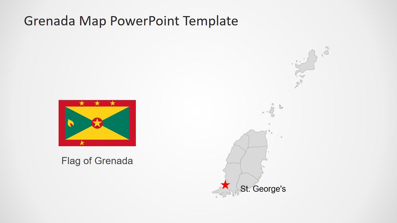 Map Template of Grenada