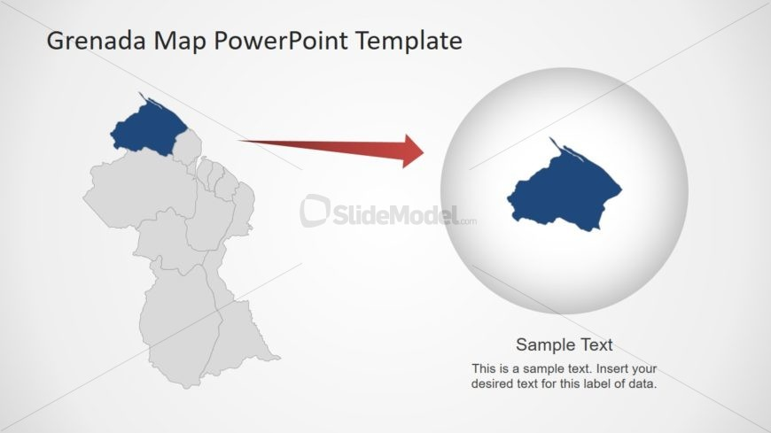 PowerPoint Map Template of Guyana