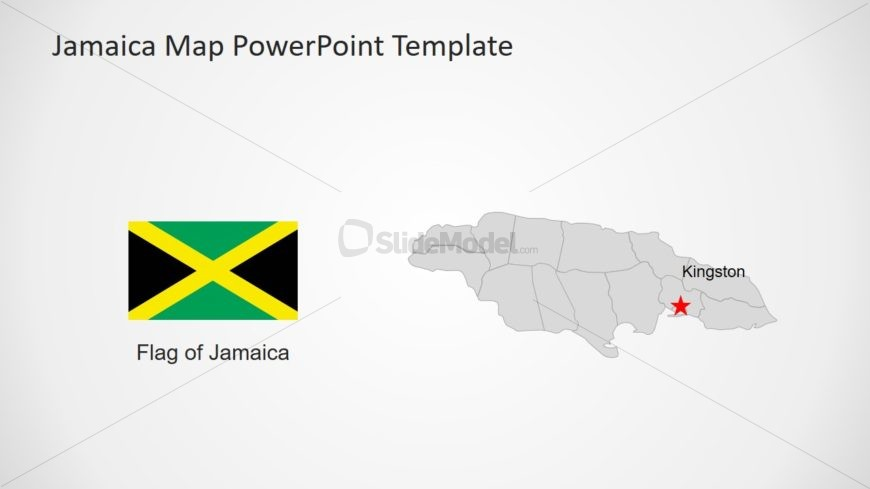 Flag and Map Template Jamaica