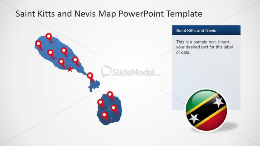 Saint Kitts and Navin Map Slide